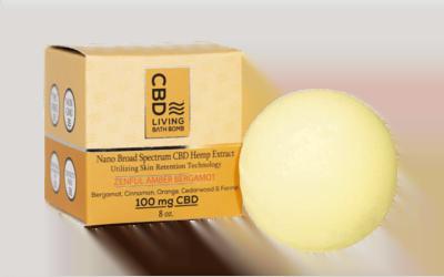 CBD Living Bath Bomb Amber Bergamot 100mg