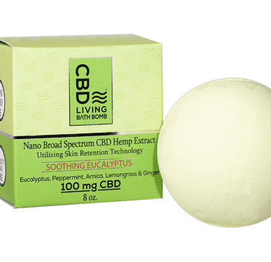 CBD Living Bath Bomb Eucalyptus 100mg