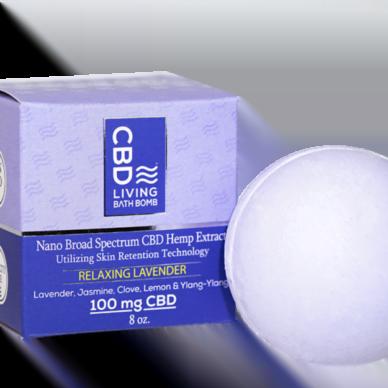 CBD Living Bath Bomb Lavender 100mg