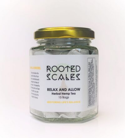 Rooted Scales Rest & Allow Terpene Tea Jar