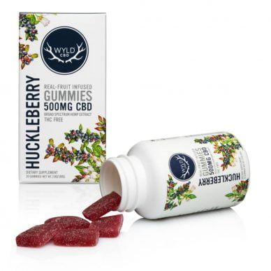 WYLD CBD 25mg Gummies Huckleberry