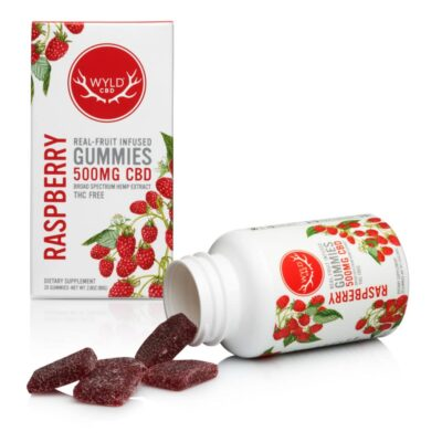 WYLD CBD Gummies 25mg Raspberry
