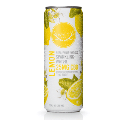 WYLD CBD Lemon Sparkling Water