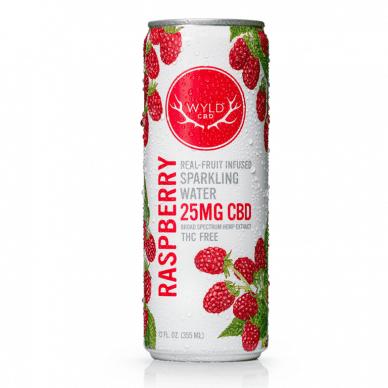 WYLD CBD Raspberry Sparkling Water