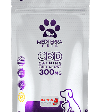Medterra CBD pet chews 10 mg bacon flavored