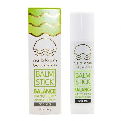 Nu Bloom Botanicals Nano CBD Balm Stick 500mg .5oz