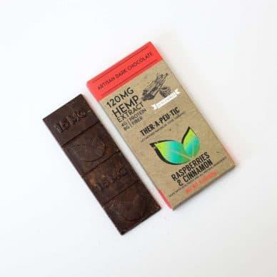 Therapeutic Treats Dark Chocolate with Raspberries & Cinnamon 120mg Full-Spectrum CBD