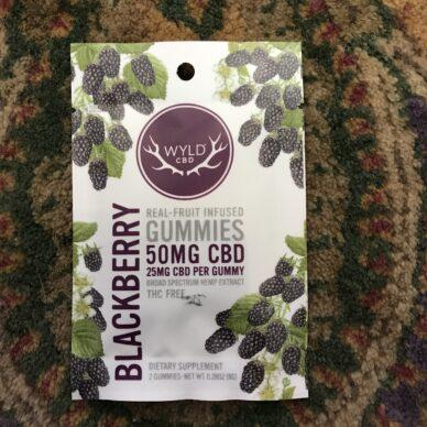 WYLD CBD Blackberry Gummy 25mg 2pk