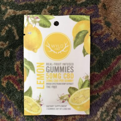 WYLD CBD Lemon Gummies 25mg 2pk