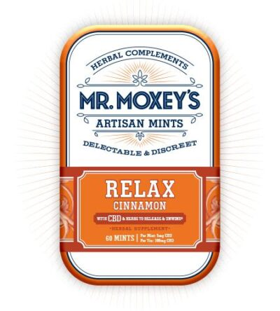 Mr. Moxey's Relax Cinnamon Mints 60 count